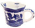 Blue Willow Ware - 3-3/4 H measuring cup