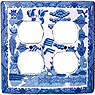 Blue Willow Ware - Double Duplex Receptable Cover