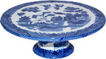 Blue Willow Ware Cake Stand - 8 D