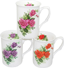 Rose Tea Mugs - Set of 3