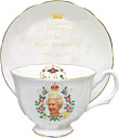 Queens Diamond Jubilee Tea Cup & Saucer Set