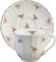 Tea Cup and Saucer, Dot Rose