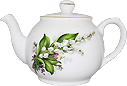 Lily of the Valley Bone China Teapot - 2 Cup