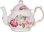 Summer Bloom Bone China Teapot - 4 Cup