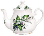 Lily of the Valley 6-Cup Teapot