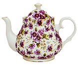 Pansy Chintz 6-Cup Teapot
