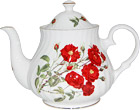 Romantic Rose Bone China Teapot - 6 Cup