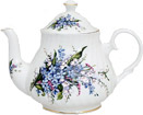 Forget-Me-Not Bone China Teapot - 4 Cup