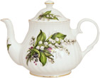 Lily of the Valley Bone China Teapot - 4 Cup