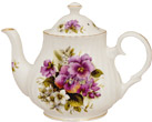 Pansy Bone China Teapot - 4 Cup