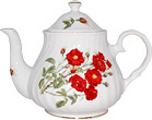 Romantic Rose Bone China Teapot - 4 Cup