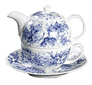 English Chintz in Blue - Tea for One