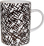 Criss Cross Lines Bone China Mug