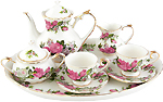 English Rose Kids Tea Set, Porcelain