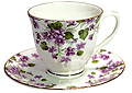Violet - Bone China Cup and Saucer Set