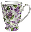 Violet - Swirl Footed Bone China Mug