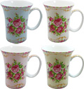 Classic Rose Mug - Set of 4