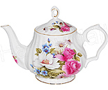 Grace's Rose 6-Cup Teapot