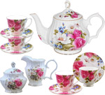 Grace's Rose Tea Set - Gracie Bone China