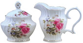 Graces Rose Cream and Sugar Set