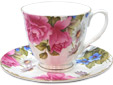 Graces Rose - Bone China Cup and Saucer Set