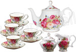 Sandra's Rose Tea Set - Gracie Bone China