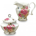 Sandra's Rose Cream & Sugar Set