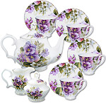 Pansy Tea Set - Gracie Bone China