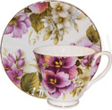 Pansy - Bone China Cup and Saucer Set