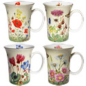 English Meadows - Set of 4 Bone China Mugs