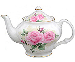 Rose Bouquet 6-Cup Teapot