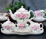 Rose Bouquet Tea Set - Gracie Bone China