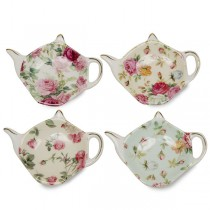 Chintz Style Teabag Tidy - Set of 4
