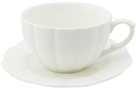 White Scallop Cup and Saucer Set