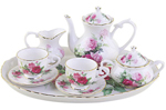 Rose Garden 10 Piece Tea Set for Kids Gift Boxed
