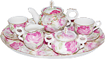 Little Girl's Tea Set - 10 Piece Summer Bloom Chintz