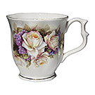 White Rose/Violet - Fine Bone China Tankard