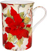 Poinsettia Chintz Bone China Mug