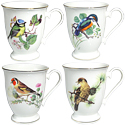 Assorted Bird Mugs - Set of 4