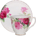 Pink English Rose - Bone China Cup and Saucer Set