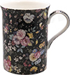 Old Garden Variety, Black Color Chintz Mug