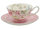 Beau Rose Bone China Tea Cup and Saucer