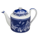 Blue Willow Teapot, 4-Cup Bone China Teapot