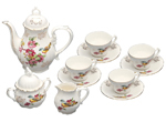 Spring Bird Tea Set - Young Lady Girl