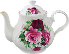Summertime Rose Teapot, 4-Cup