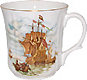 Ship with Sails - Swirl Bone China Mug