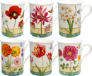 Garden Flower, Set of 6 Mugs