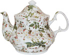 White Rose Chintz Teapot - 6 Cup
