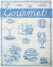 French Jacquard Kitchen/Tea Towel - Blue Gourmet