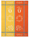 French Jacquard Kitchen/Tea Towel - Bright Gardening